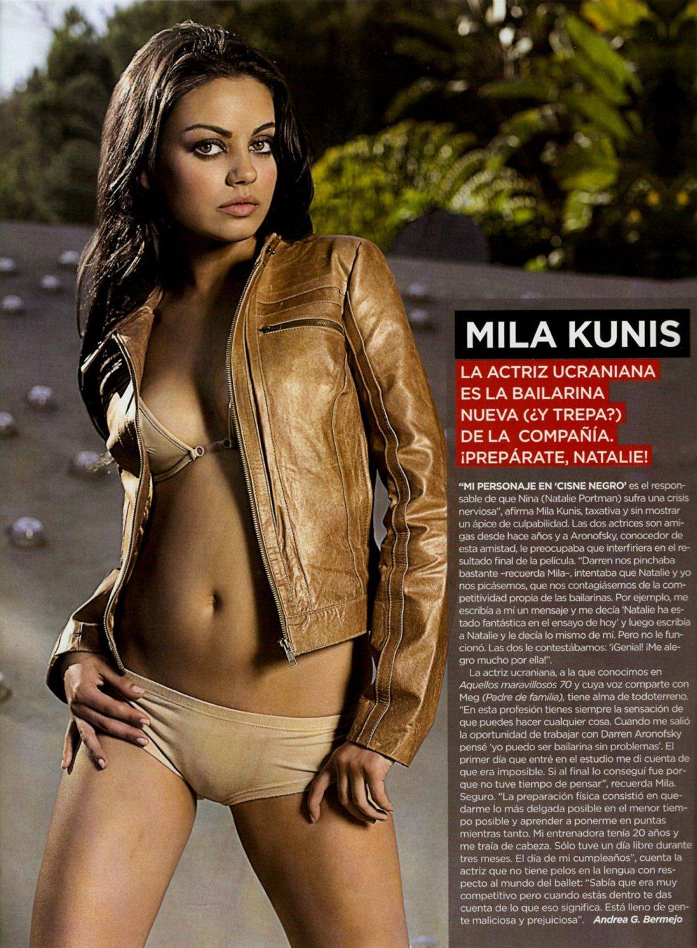 Mila Kunis Looking Hot In Lingerie