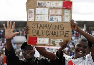 ZIMBABWE Inflation At 65 Quindecillion Novemdecillion Percent