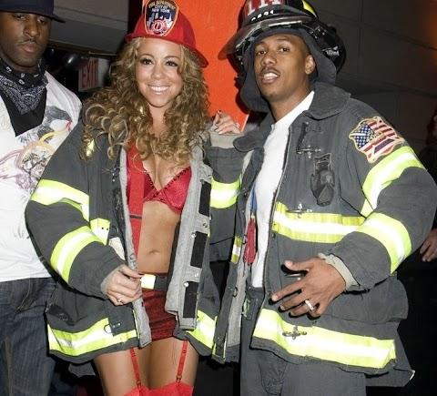 ...e buon halloween anche da mariah carey pompiera