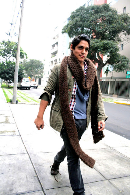 STREETSTYLE _ Brown Scarf