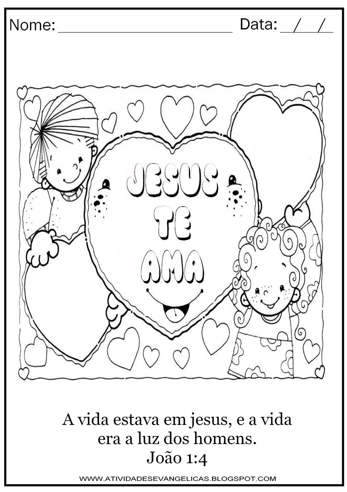 Increíble Jesus Me Ama Para Colorear Imprimible Viñeta - Dibujos ...