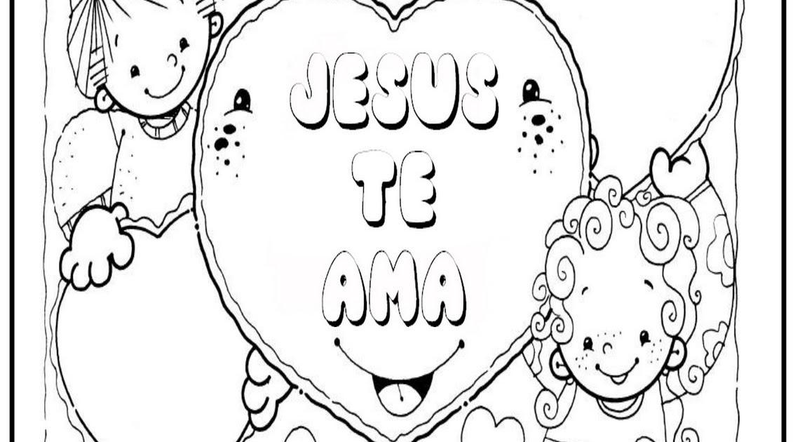 Excepcional Jesús Me Ama Para Colorear Ideas - Dibujos Para Colorear ...