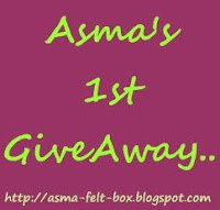 ASMA'S 1st GIVEAWAY....