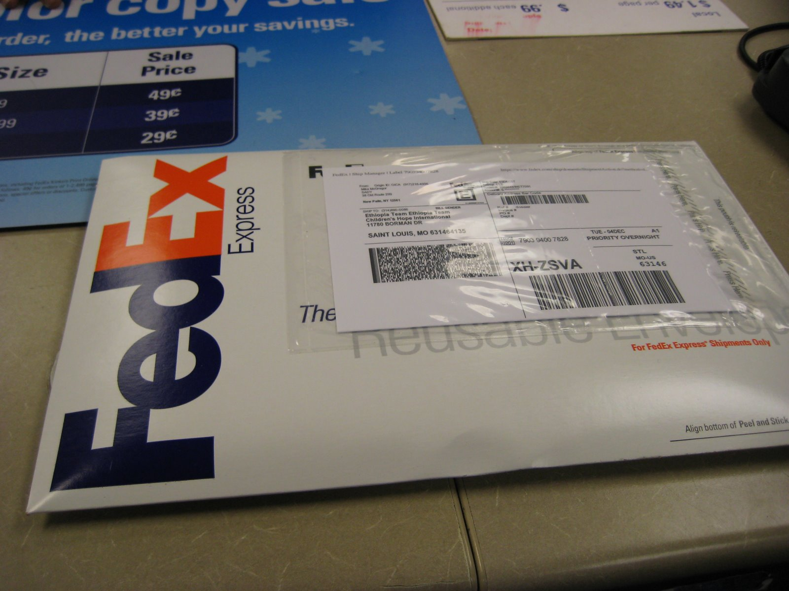 The mcgregor journey december 2007 for How to send a shipping label to someone