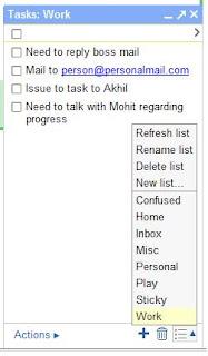 Gmail Task List