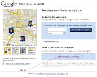 Google Latitude Home Page