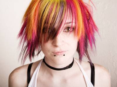 teen-hairstyles-/punk-teen-hairstyle. Image of short