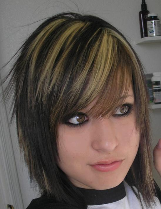 Modern Medium Emo Hairstyles for Girls 2010. Short Emo Hairstyles For Women.