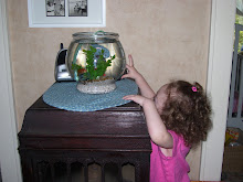 "Carlie and her new fish"" Bubbles"""