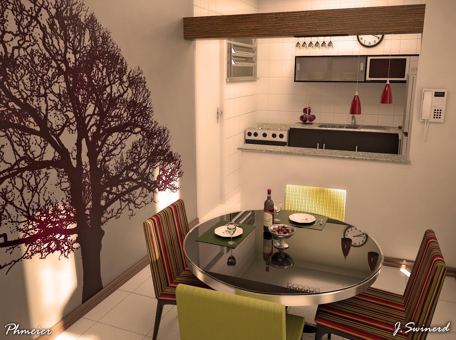Cozinha E Sala Juntos Pequena Arquiteta Duda Senna Apartamento  -> Sala De Jantar Pequena Pontofrio