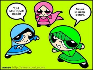 powerpuffgirls muslimah . . !!!