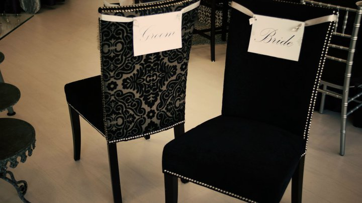 Bride and groom chairs for rent