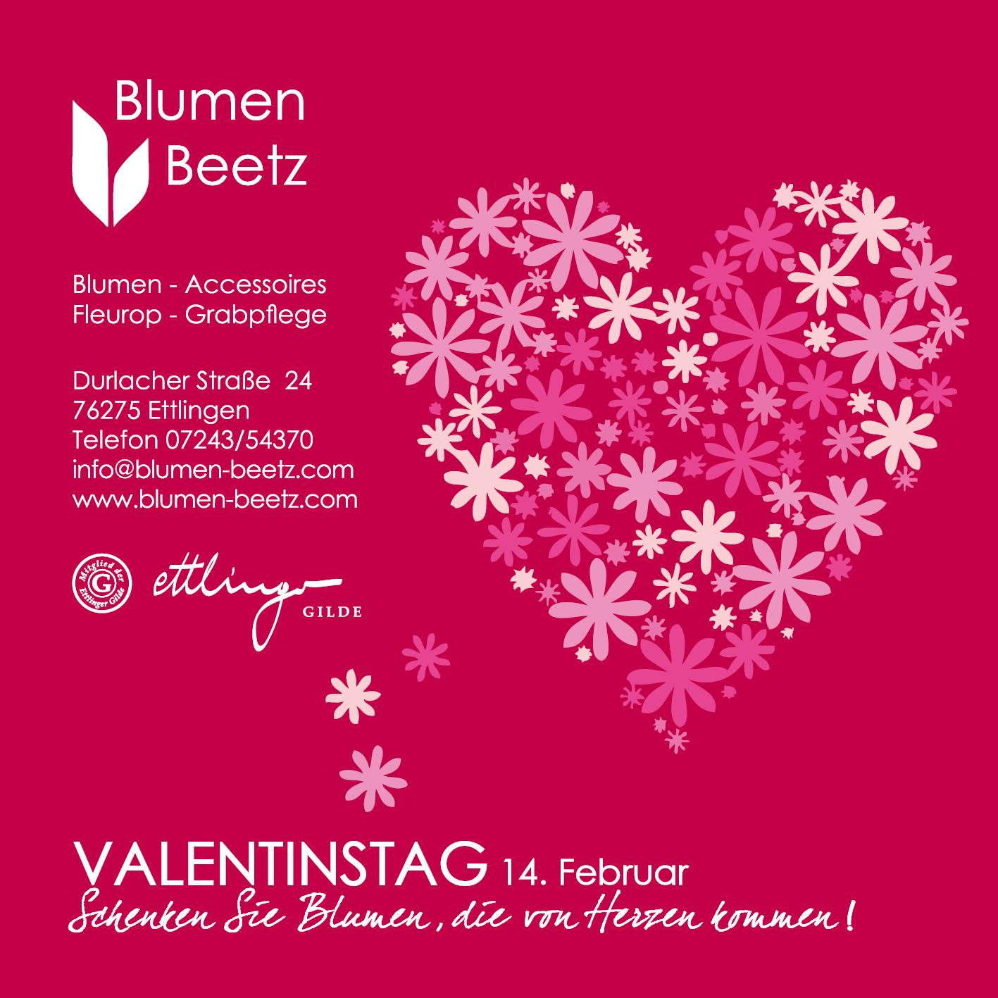 Blumen Beetz: 14. Februar - Valentinstag