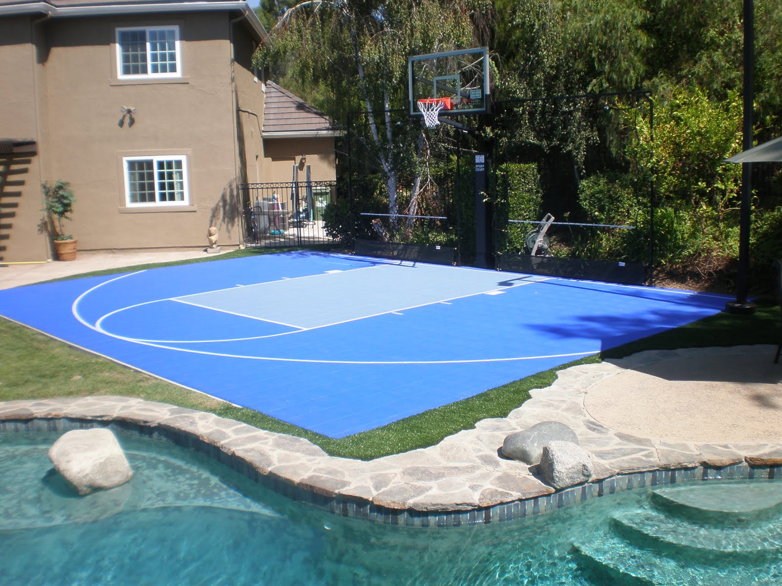 Sport court of southern california introducing sportscape Backyard sport court