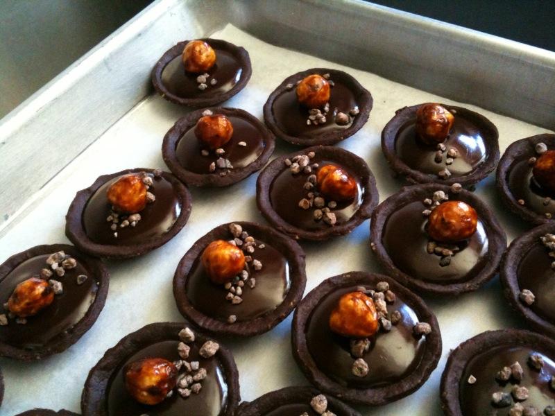 Kristianne Descher Confections: Mini Dessert Display Prep at Bouchon