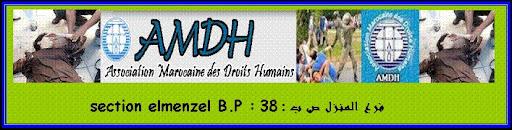 ASSOCIATIONS MAROCAINE DES DROITS HUMAINS SECTION D' ELMENZEL
