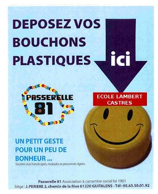 association des parents d el 232 ves de l ecole de lambert collecte de bouchons en plastique