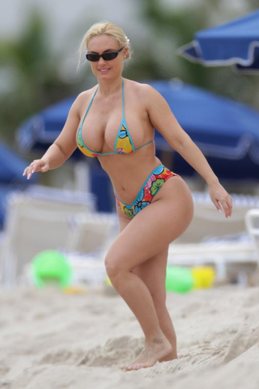 ice t s wife coco may look a bit over inflated for a lot of people s