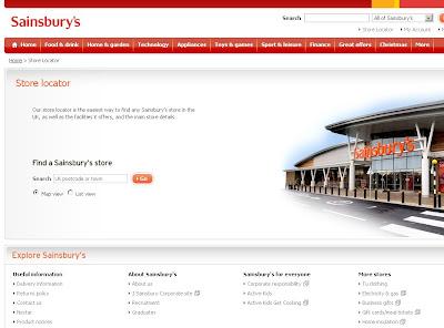 Sainsbury's store locator - www.sainsburys.co.uk store locations