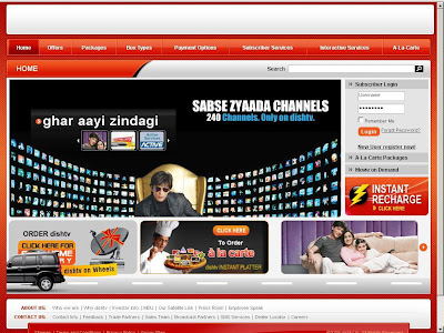 Www.DishTv.in Login, Dish Tv Recharge, Dish TV Online Payment & Dish Tv Packages