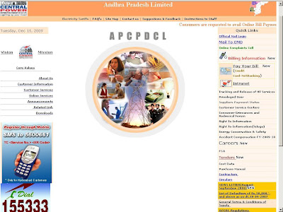 APCPDCL Electricity Bill Online Payment at APCentralPower.com Hyderabad