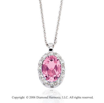 pink products linneys necklace flower jewellery diamond