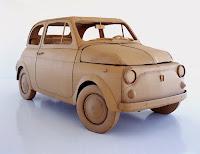 Cardboard car, FIAT 500