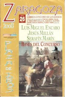 Portada de las Bases de la Corrida Concurso de Zaragoza