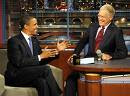 David Letterman with President Obama