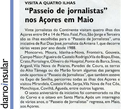 Café Portugal - PASSEIO DE JORNALISTAS nos Açores