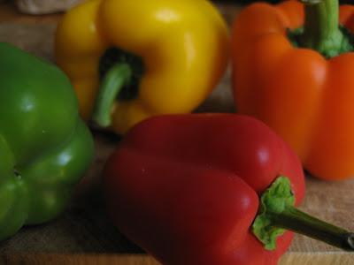 grön paprika omogen
