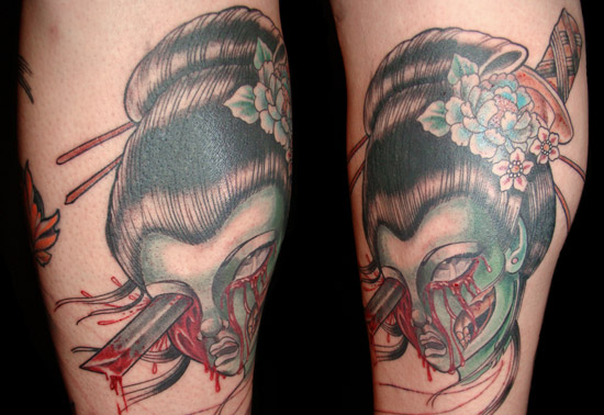 Exotic Brutality :: the Decapitated Geisha Tattoo