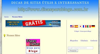 Exemplo Blogger