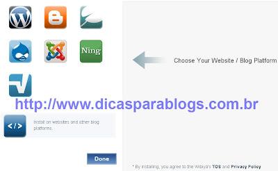 instalar gadget no blogger