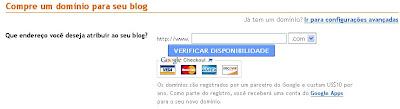 Endereço .com.br no blogger