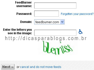 Configurar Feedburner
