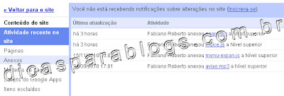 google sites - hospedagem gratis