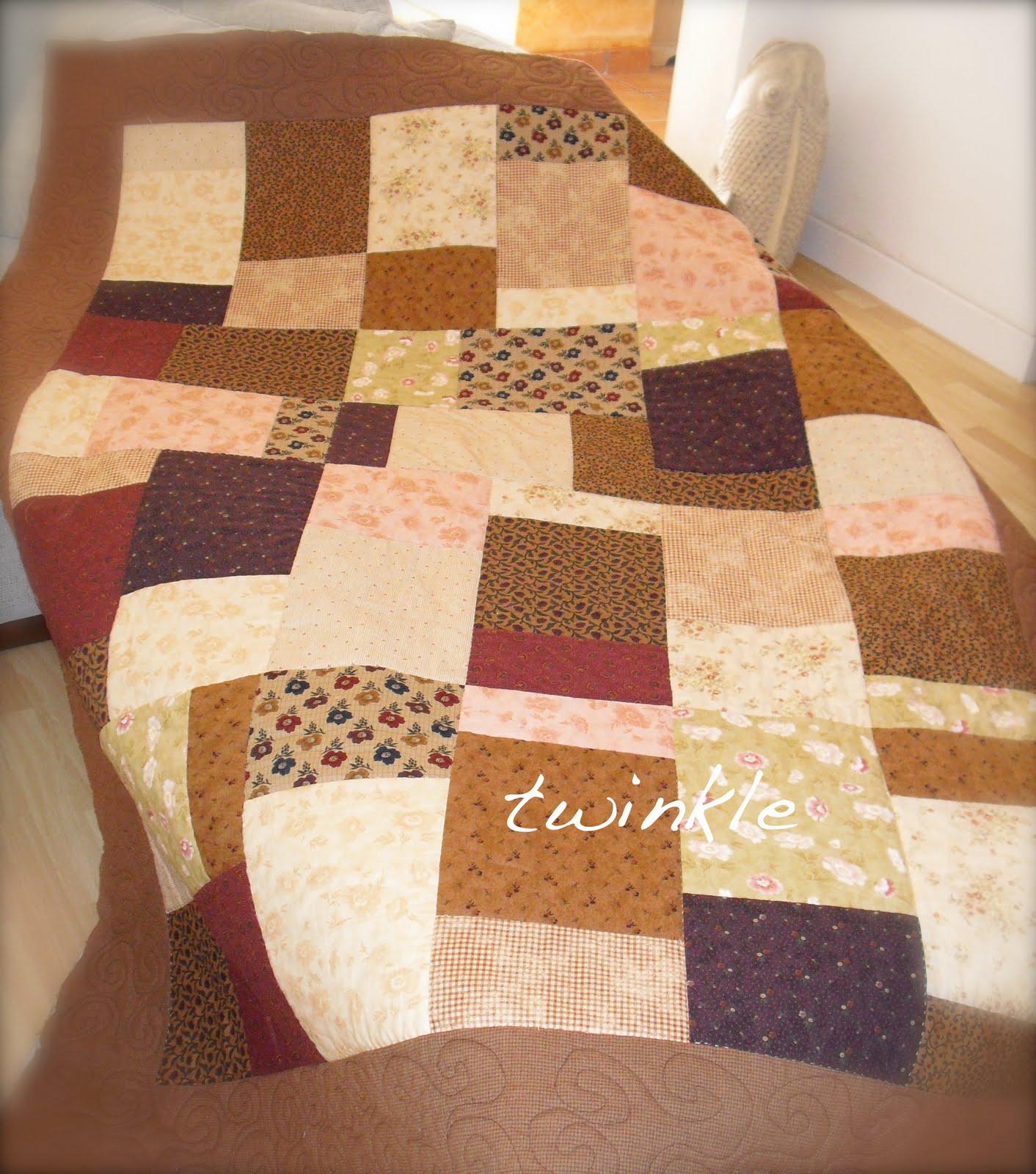 Twinkle patchwork colchas para regalar - Colchas de patchwork modernas ...