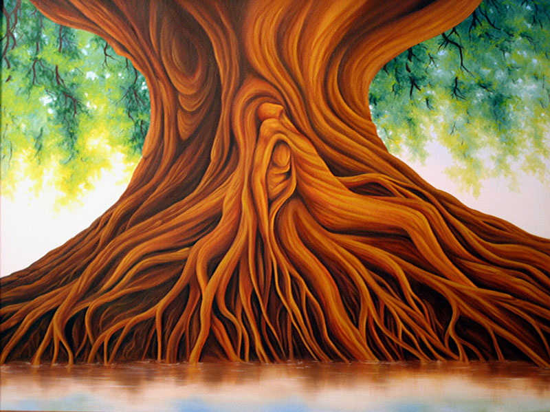 Dawn Waters Baker Tree Of Life Painting Sold