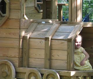 wooden train ride