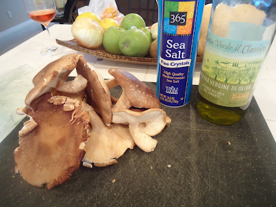 ... stemmed, and thinly sliced (see below) extra virgin olive oil sea salt