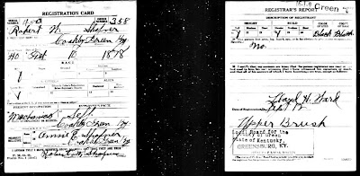 Robert W Shofner WWI Draft Registration Card