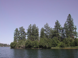 One of the many miles of shoreline in Spokane County