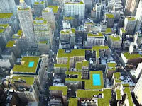 roof garden, green walls, air filter, reduce pollution