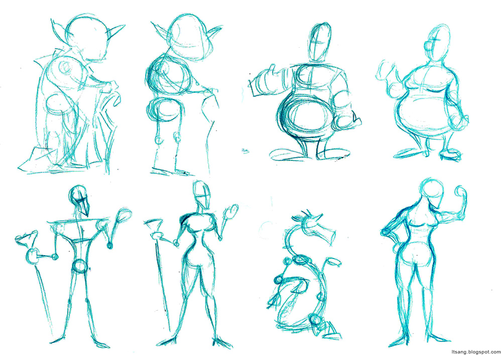 Character Design Shape Theory : Leo tsang cg arts animation character design workshop