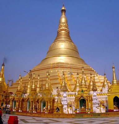 Shwedagon Paya (Pagoda) in Myanmar