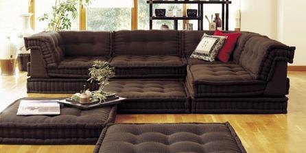 Lounge in color mah jong chairs maureen stevens for Sitzlandschaft sofa
