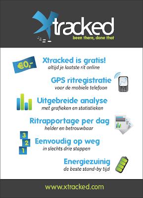 Xtracked is gratis, altijd je laatste rit online. GPS ritregistratie, voor de mobiele telefoon. Uitgebreide analyse, met grafieken en statistieken. Ritrapportage per dag, helder en betrouwbaar. Eenvoudig op weg, in slechts drie stappen. Energiezuinig, de beste stand-by tijd.