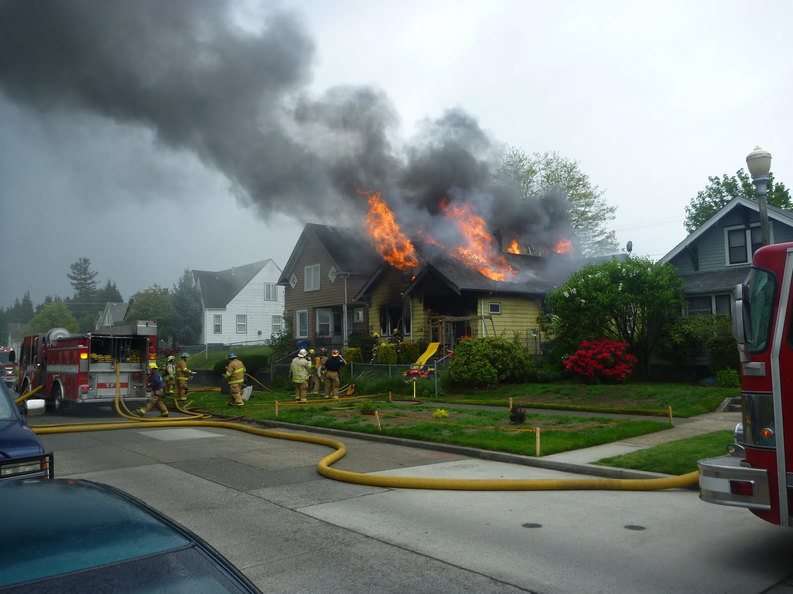 Two Alarm Residential House Fire