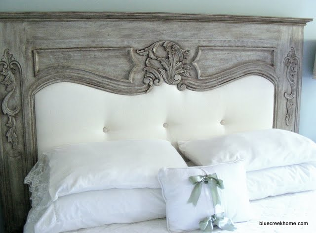 [headboard+mantle+diy+makeover+bluecreekhome]